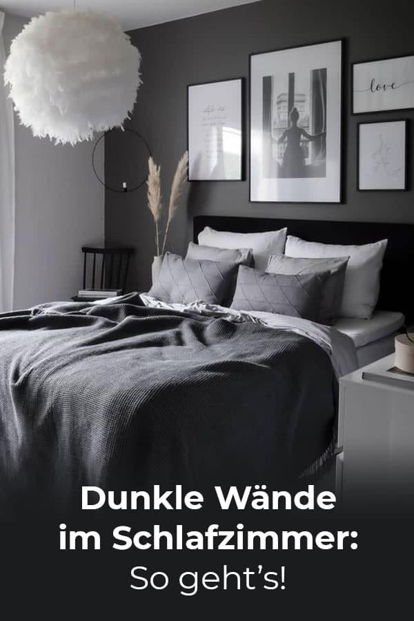 Dunkle Wände im Schlafzimmer