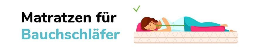 Matratzen für Bauchschläfer