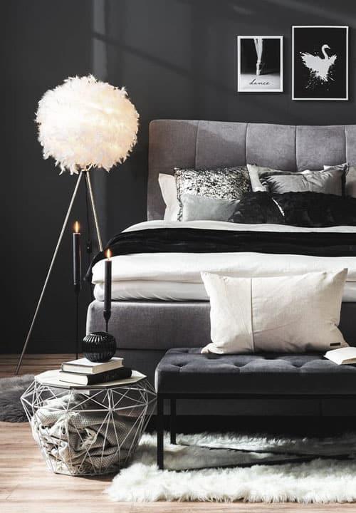 Schlafzimmer in Schwarz einrichten (Ideen & Möbel)