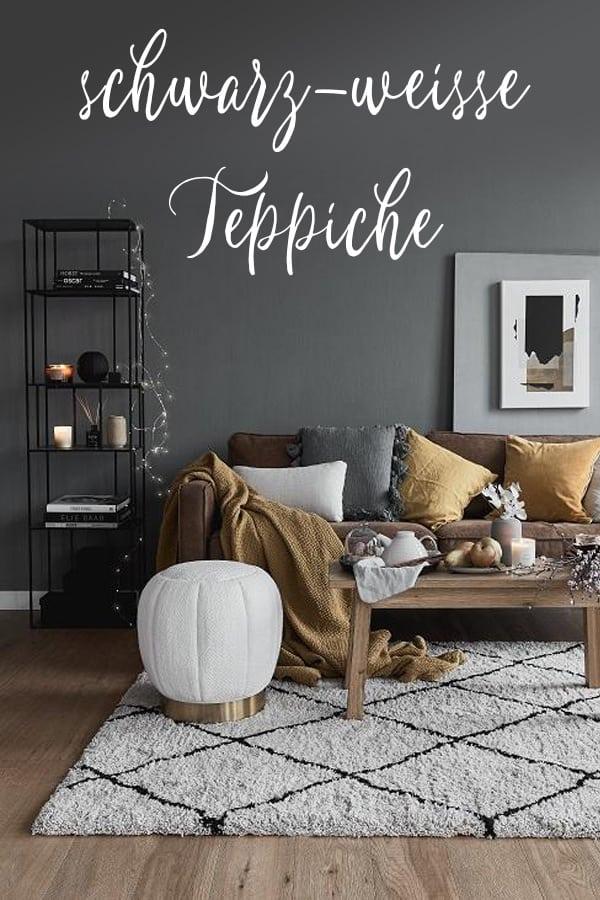 Schwarz Weisse Teppiche