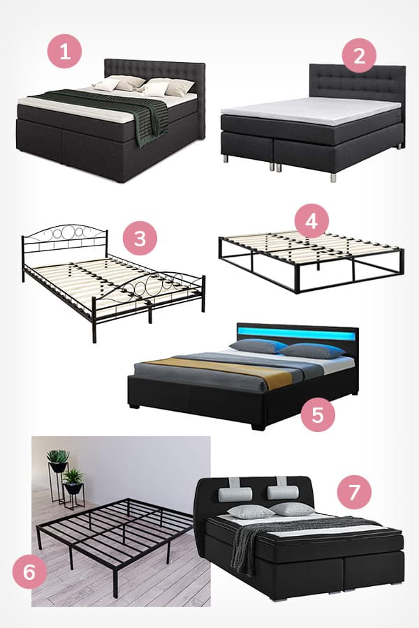 Schwarze Betten