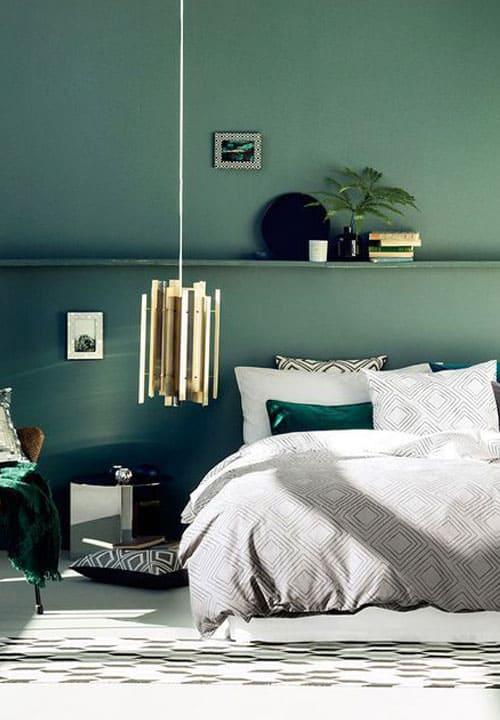 Schlafzimmer in Grün einrichten (Inspiration & Möbel)